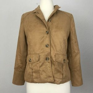 Coldwater Creek Suade Tan Jacket Size 6P